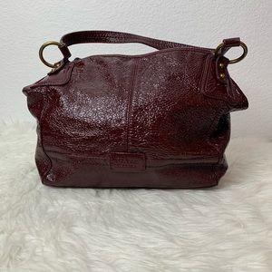 The Sak patent leather burgundy shoulder bag B4